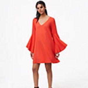 Stunning Red Swing Dress Bell Sleeves